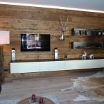 Wohnwand Holz alt